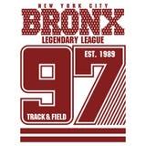 Bronx t-shirt graphics Stock Photography