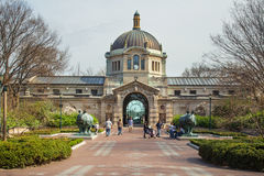 Bronx-Zoo-Gebäude lizenzfreie stockfotografie