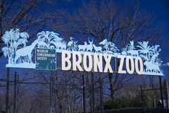 Bronx Zoo Sign stock photos
