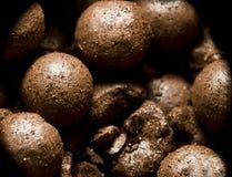 Bronzage des perles de poudre Photographie stock