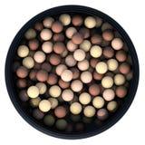 Bronzare le perle 3d rendono Fotografia Stock