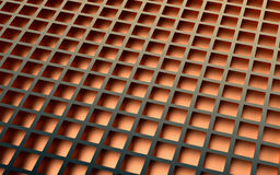 Bronze abstract image of cubes background. 3d render Stock Images