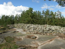 Bronze age burial site in Finland Royalty Free Stock Photography