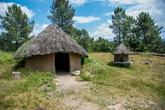 Houses of a Celtic people in Galicia, Spain stock photography