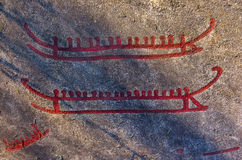 Bronze Age Rock Carvings Stock Images