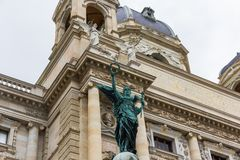 Vienna/Austria - April 5th 2018: Angel at entrance of Museum of Natural History Vienna stock images