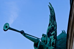 Bronze angel. On the top of the Berlin Cathedral Royalty Free Stock Photography