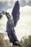 Bronze angel. Unknown artist of the 18th cen Stock Photo