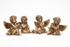 Bronze angels Stock Images