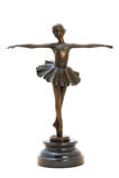Bronze antique figurine of the dancing ballerina. royalty free stock photos