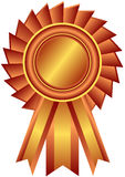 Bronze award with ribbon (vector). Bronze award with ribbon on white background (vector stock illustration