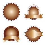 Bronze badge set Royalty Free Stock Images