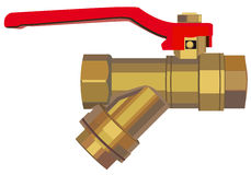 Bronze ball valve Stock Photography