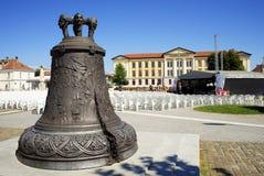 The bronze bell in Alba Iulia City Stock Photos