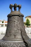 The bronze bell in Alba Iulia City Royalty Free Stock Images