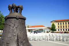 The bronze bell in Alba Iulia City Royalty Free Stock Photography