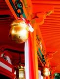 Bronze bell at Japanese shrine 2 Stock Photos