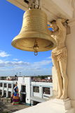 Bronze bell, Leon Cathedral, Nicaragua. Royalty Free Stock Image