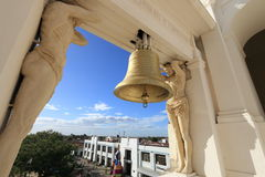 Bronze bell, Leon Cathedral, Nicaragua. Royalty Free Stock Images
