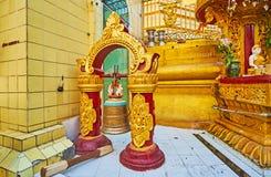 The bronze bell in Sule Paya, Yangon, Myanmar Stock Photography