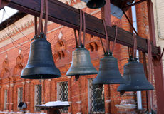 Bronze bells from Christian church Stock Image