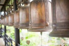 Bronze bells. Colonna Belfry. Cloudy stock photos