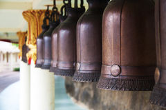 Bronze bells in the temple; Royalty Free Stock Images