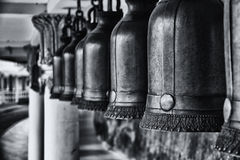 Bronze bells in the temple; Stock Photography