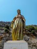 Bronze Blessed Virgin Mary Stock Photo