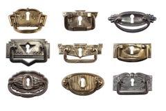 Bronze and brass door knobs Stock Images