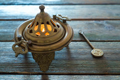 Bronze brazier Stock Images