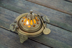 Bronze brazier Royalty Free Stock Image