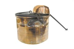 Bronze bucket and ladle Royalty Free Stock Photos