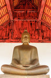 A Bronze buddha image. Stock Photo