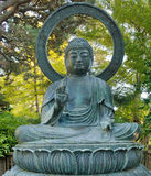 Bronze Buddha in San Francisco Japanese Garden royalty free stock images