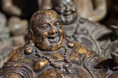 Bronze Buddha sculpture Stock Photo