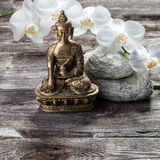 Bronze Buddha for spirituality and female inner beauty Royalty Free Stock Image