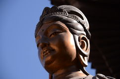 Bronze-Buddha-Statue lizenzfreie stockfotos