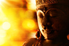 Bronze buddha statue Stock Photography