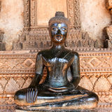 Bronze Buddha statue at the Haw Phra Kaew Royalty Free Stock Image