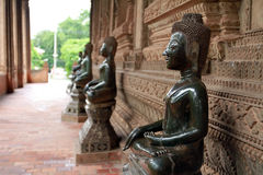 Bronze buddha statue in Lao Stock Images