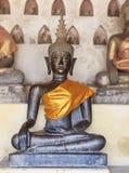 Bronze buddha statue in Wat Si saket, Laos Royalty Free Stock Photos