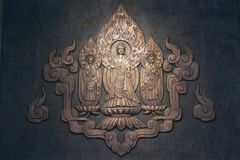 Bronze Buddhism relief in Xian Forest of Stone Steles Museum, Shaanxi Province China