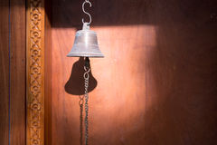 A bronze buddhist hand bell Royalty Free Stock Photo