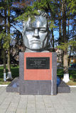 Bronze bust of the Hero of the Soviet Union lieutenant colonel Nikolay Vasilyevich Mamonov Stock Photography