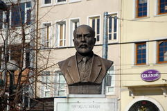 A bronze bust of Mehmet Akif Ersoy Royalty Free Stock Photos