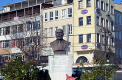 A bronze bust of Mehmet Akif Ersoy Stock Images