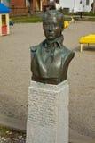 Bronze bust of Molly Walsh in Skagway, Alaska Royalty Free Stock Photos