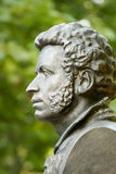 The bronze bust of Pushkin in Gomel. Belarus Royalty Free Stock Photos
