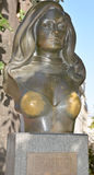 Bronze bust of singer, actress Dalida Royalty Free Stock Images